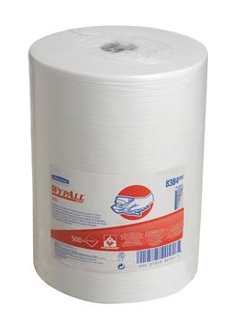 WypAll® X70 Cloths 8384 -1 large roll x 500 white, 1 ply cloths