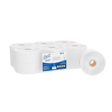 Scott® Essential™ Jumbo Roll Toilet Tissue 8614 - 12 rolls x 500 white, 2 ply sheets (2,400m)