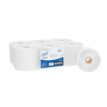 Scott® Essential™ Jumbo Roll Toilet Tissue 8615 - 12 rolls x 500 white, 2 ply sheets (2,400m)