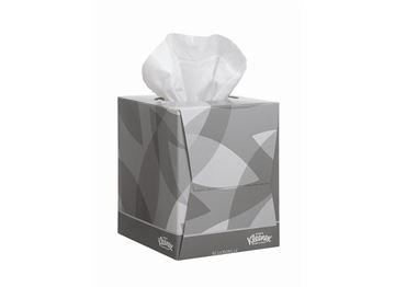 Kleenex® Facial Tissues Cube 8834 - White,  2 ply,  12x88 (1,056 sheets)