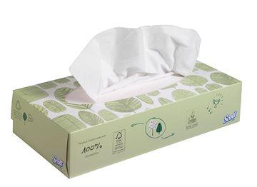 Scott® Facial Tissues 8837 - White,  2 ply,  21x100 (2,100 sheets)