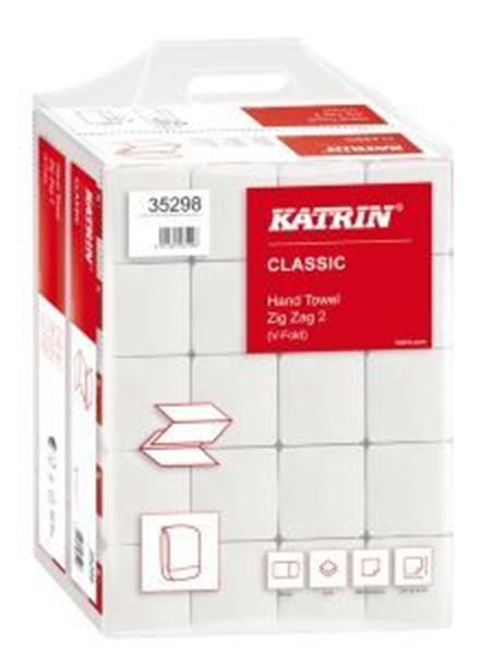 Picture of x4000 KATRIN CLASSIC ZFOLD 2ply TOWEL - WHITE(22.4x23cm) - Handy Pack