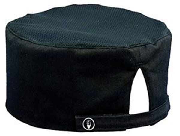 Chefs Coolvent Skull Cap - Black - One Size