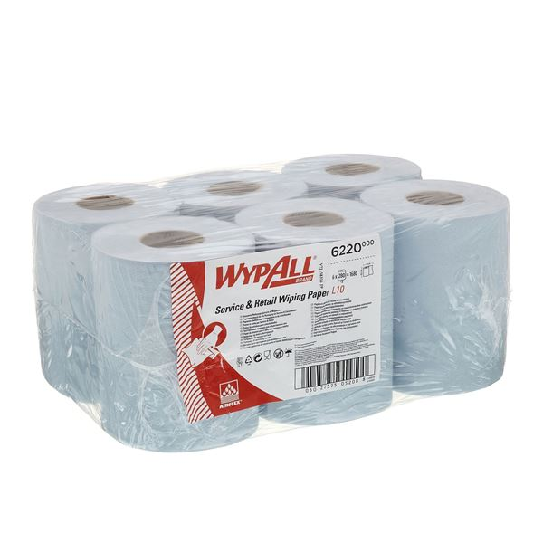 Wypall Reach Blue Centrefeed Roll 6220
