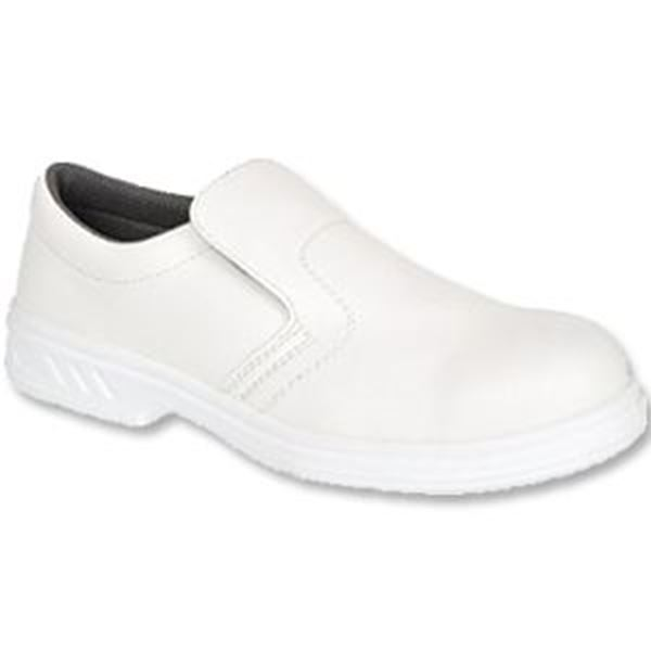 Slip On Safety Shoe - White