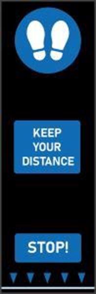 Keep Your Distance Footprint Mat - Blue