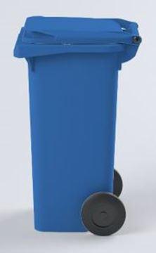 WHEELED BIN PLASTIC - BLUE