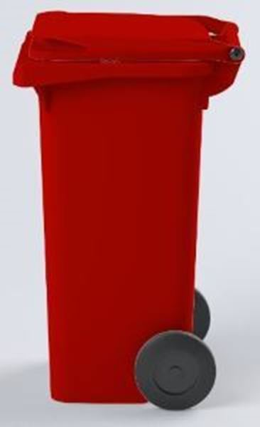WHEELED BIN PLASTIC - RED