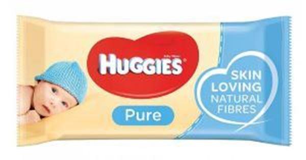 HUGGIES PURE BABY WIPES 56 Per Pack