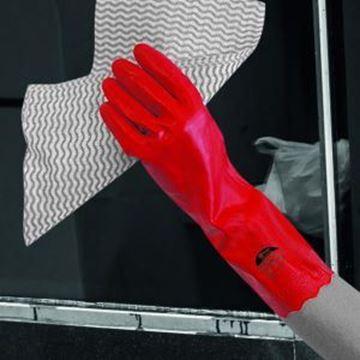 Pura Mweight PVC Glove - Red