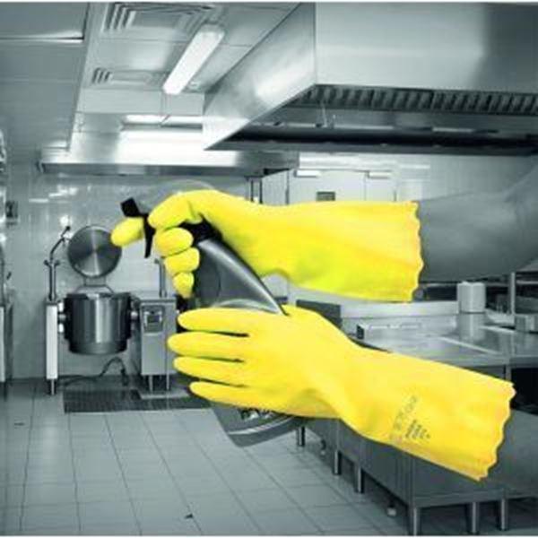 Pura Mweight PVC Glove - Yellow