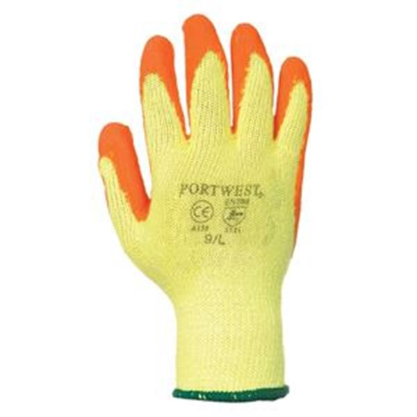 Fortis Grip Latex Glove - Orange/Yellow