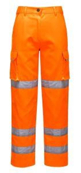 Ladies Hi Vis Premium Trousers - Orange