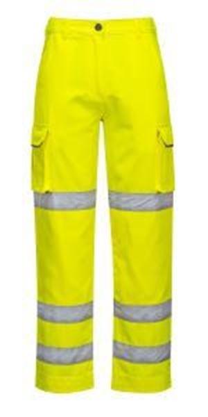Ladies Hi Vis Premium Trousers - Yellow