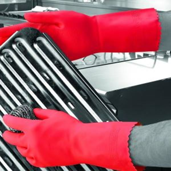 Picture of Optima Mweight Latex Household Glove - Red