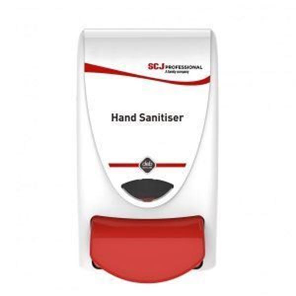 Picture of 1lt SCJ HAND SANITISER DISPENSER - RED BUTTON