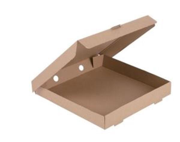 "Picture of (100) 12"" PIZZA BOX PLAIN COMPOSTABLE BOARD"