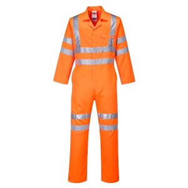 Picture of Hi Vis Coverall/ Boiler Suit Tall Fit - Orange