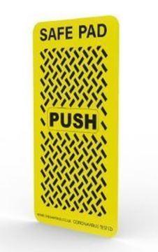 Short yellow door push pad cover