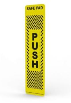 Picture of SafePad Antimicrobial Door Push Plate | Yellow