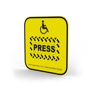 Antimicrobial Push Button Cover yellow