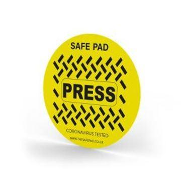 Safe Pad Circular Antimicrobial Push Button Cover