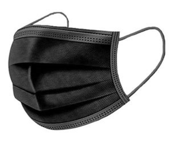 Picture of x50 Surgical Style 3ply Civilian Grade PPM Face Masks - Black