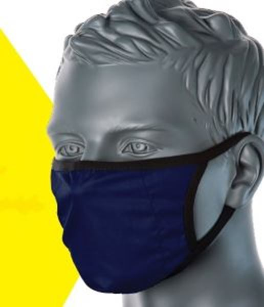 Picture of 3ply Reusable Fabric Civilian Grade Face Mask (65% Polyester/35%Cotton)