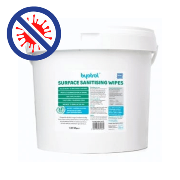 BYOTROL QFS SURFACE SANITIZER WIPES - BLUE