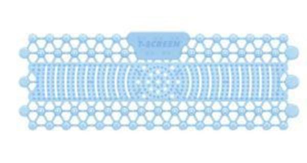 Picture of T-SCREEN 30 day TROUGH URINAL MAT LINEN BREEZE - SKY BLUE