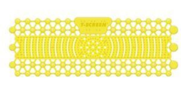 Picture of T-SCREEN 30 day TROUGH URINAL MAT CITRUS MANGO - YELLOW