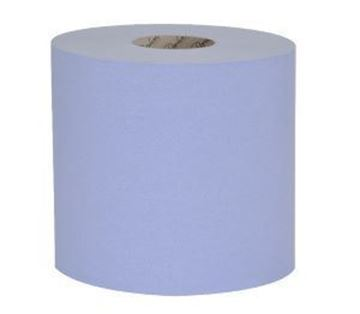 Picture of Raphael 1ply BLUE TOWEL ROLL RECYCLED 6x250m