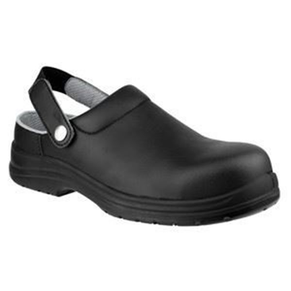 Picture of BLACK HYGIENE SAFETY CLOG - SIZE 4MACHINE WASHABLE