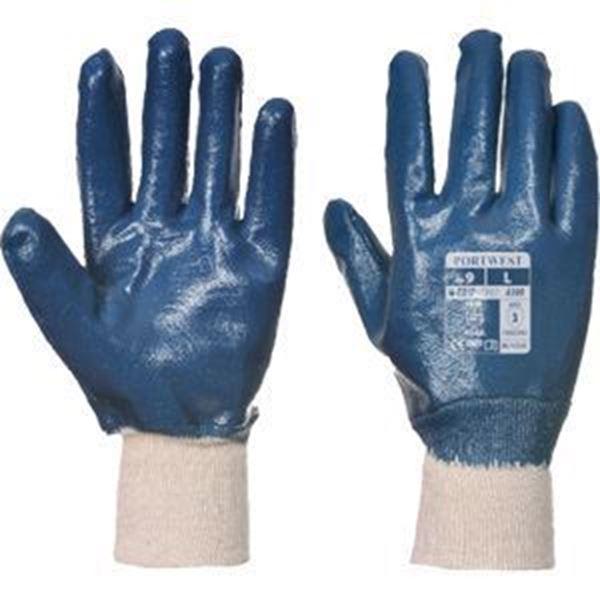 Picture of BLUE NITRILE KNIT WRIST GLOVE SIZE 11/XXL