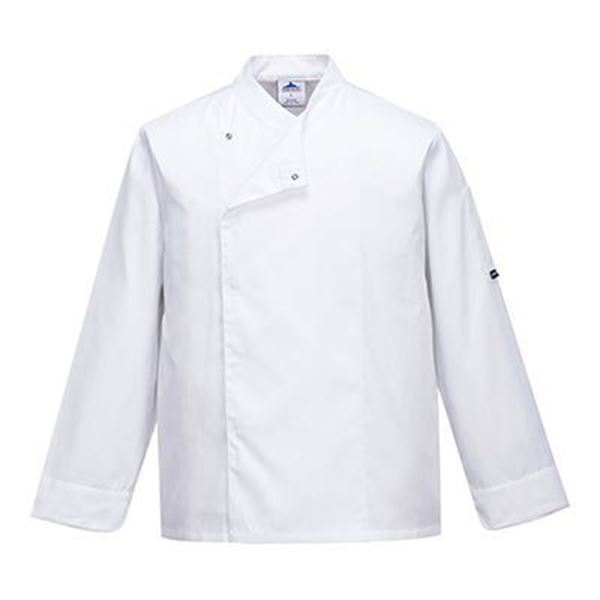 Picture of Cross Over Chefs Jacket - White press Stud Front | XXXL