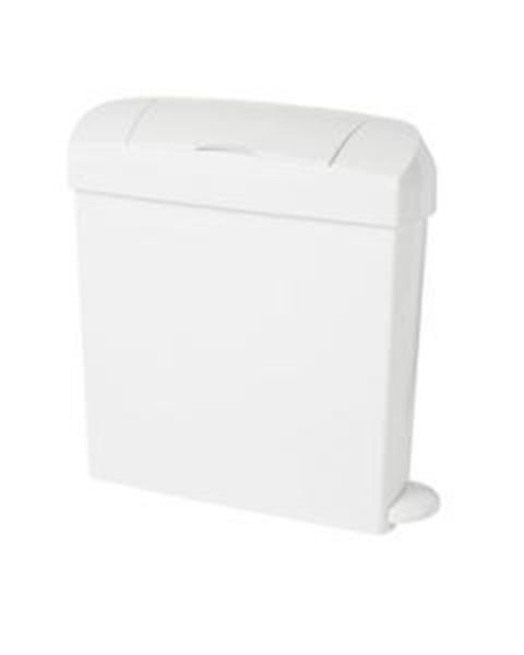 Picture of 23lt INTIMA WHITE PEDAL SANITARY BIN - WHITE