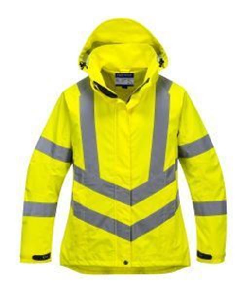 Picture of LADIES HI VIS BREATHABLE JACKET - YELLOW