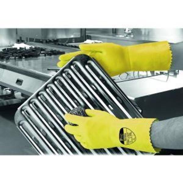 Picture of Optima Mweight Latex Household Glove Yellow