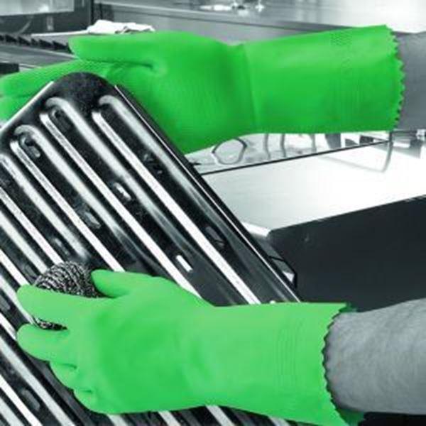 Picture of Optima Mweight Latex Household Glove - Green