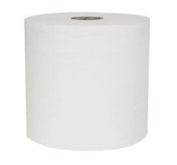 Picture of Raphael 1ply WHITE TOWEL ROLL 6x200m 100% Recycled
