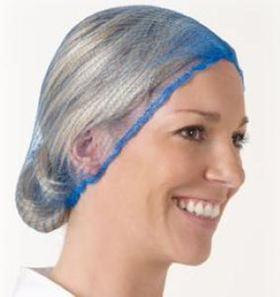 Picture of x100 HAIRNET METAL DETECTABLE - BLUE