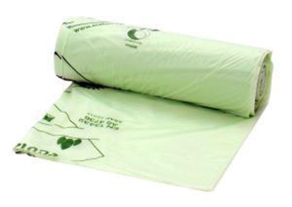 """Picture of x200 140lt GREEN COMPOSTABLE COMPACTOR SACKS 20x34x32"""" ECOPOND"""
