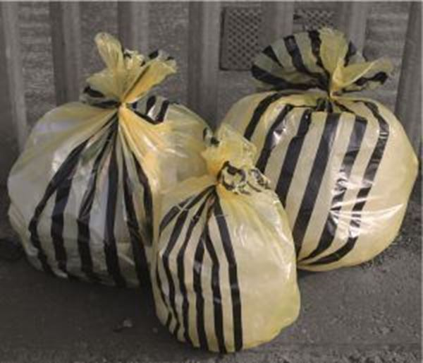 """Picture of x500 M/DUTY TIGER STRIPE SACK 9x17x26"""" - YELLOW"""
