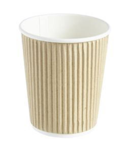 Picture of x500 8oz HOT CUP TRIPLE LAYER - BROWN KRAFT