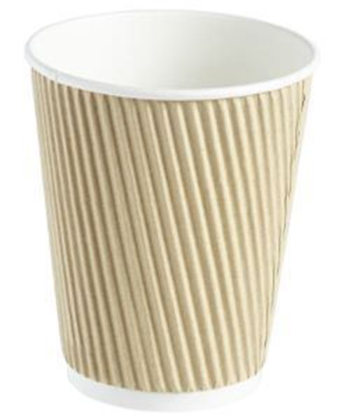 Picture of x500 12oz HOT CUP TRIPLE LAYER - BROWN KRAFT
