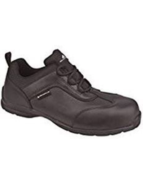 Picture of * Sports Safety Shoe Leather Non-Metallic Toe - Black Size 6 *Clearance