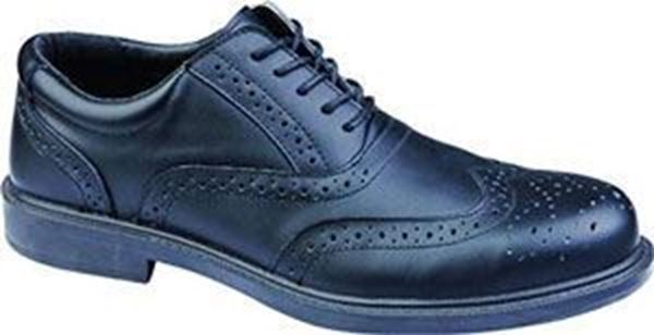 Picture of Ultra Lightweight Executive Brogue Shoe - Black Size 9 * Clearance