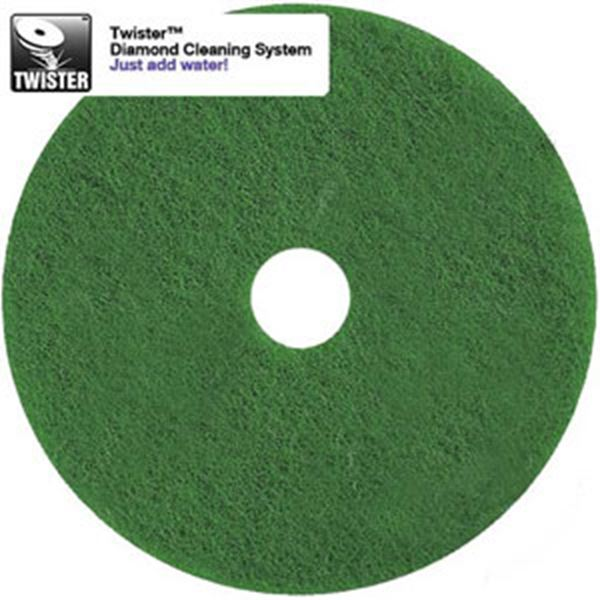 """Picture of x2 17"""" TWISTER FLOOR PADS - GREEN"""