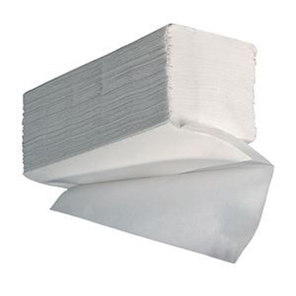 Picture of ESSENTIALS 1ply WHITE VFOLD TOWEL x5000 (246x222mm)