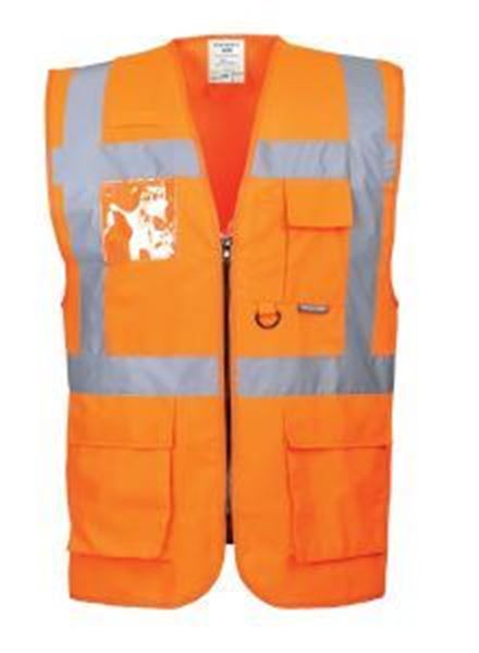 Hi Vis Berlin Executive Waistcoat - Orange